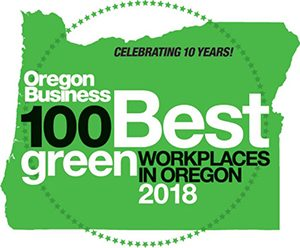 Oregon Business 100 Best Green Businesses logo