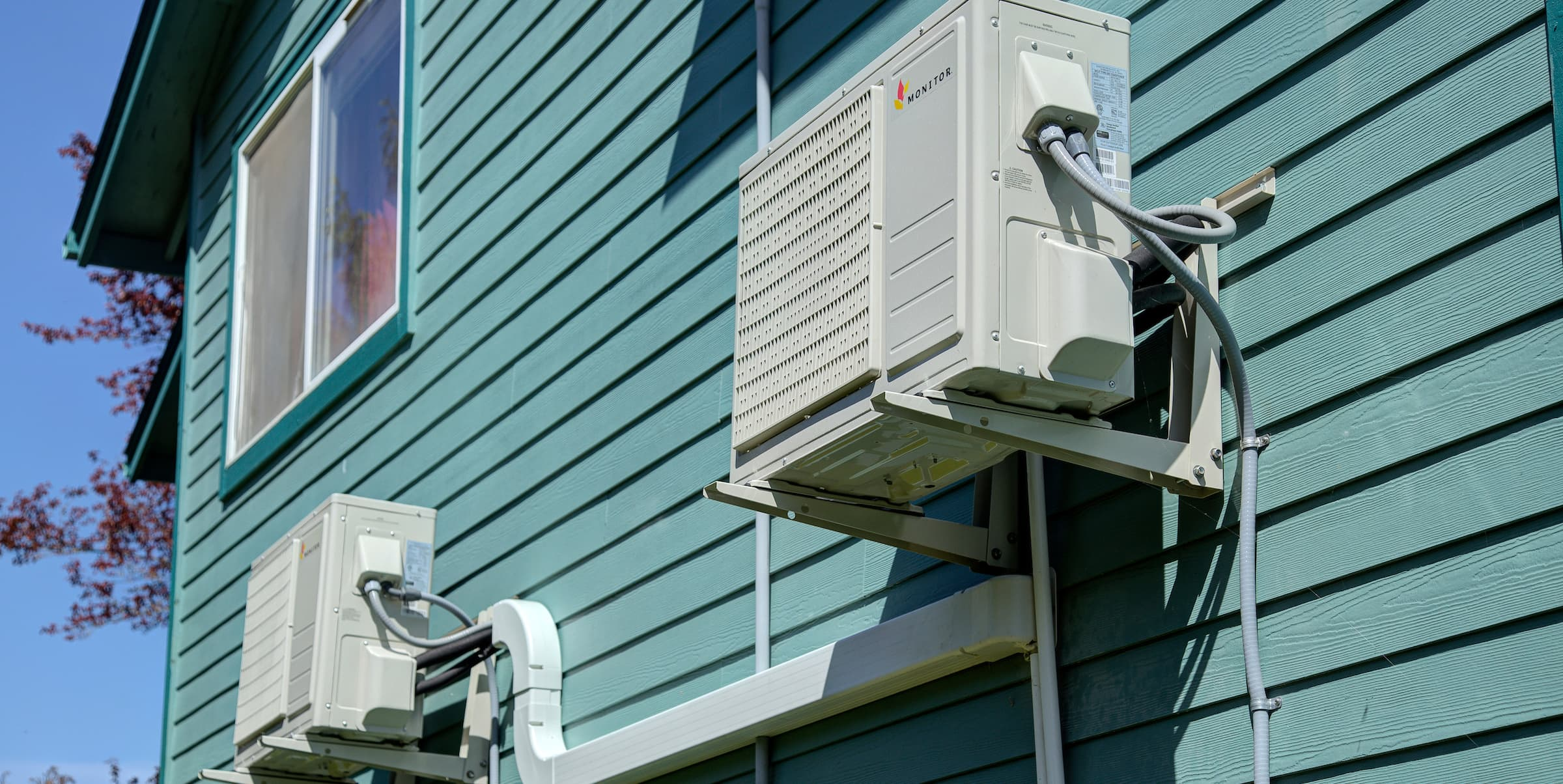 air conditioning units outside of a multifamily property